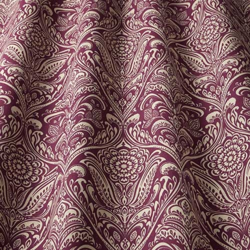 Swatch Box Hathaway Claret Curtain Fabric