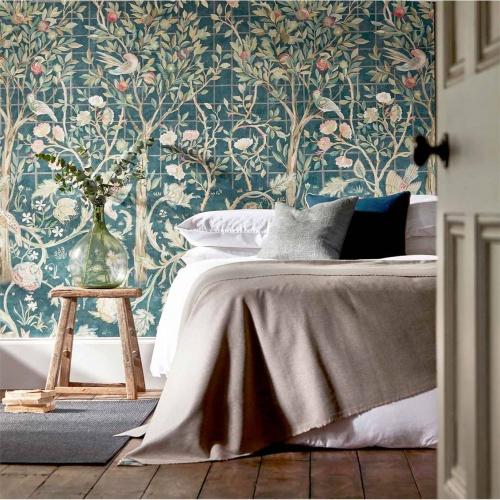 Morris & Co Melsetter Ivory Sage Wallpaper 216707