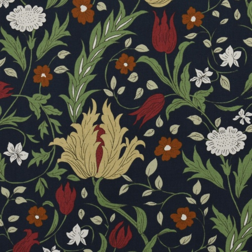 Gordon Smith Wild Tulip Navy Curtain Fabric