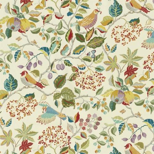 Sanderson Birds & Berries Rowan Berry Fabric 226729