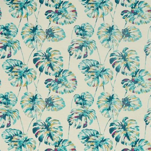 Harlequin Kelapa Lagoon/Cerise Curtain Fabric 132646