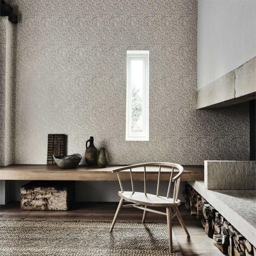 Morris & Co Pure Willow Bough Ecru/Silver Wallpaper 216023