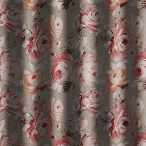 Gordon Smith Rose Green Curtain Fabric