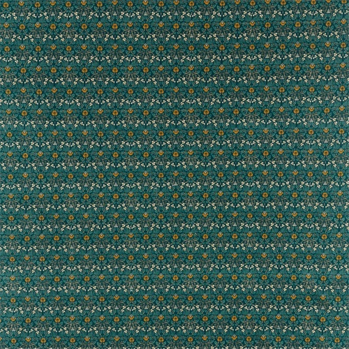 Morris & Co Eye Bright Teal Fabric 226598