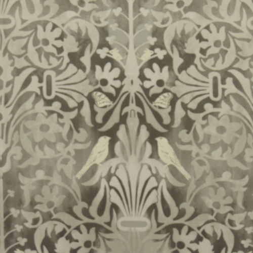Gordon Smith Natures Retreat Grey Curtain Fabric