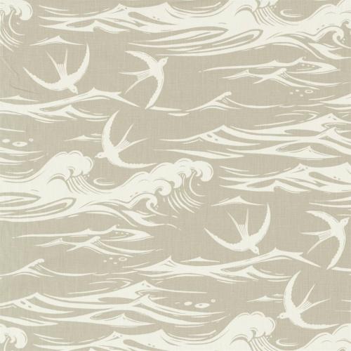 Sanderson Swallows at Sea Linen Fabric 226742