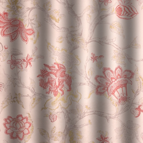 Voyage Hatfield Scarlet Curtain Fabric