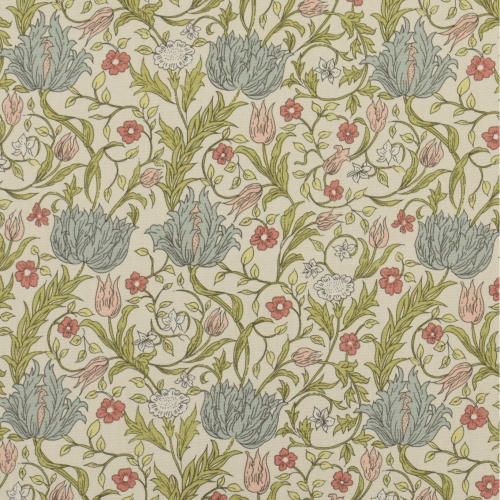Gordon Smith Wild Tulip Mini Duck Egg/Pink Curtain Fabric