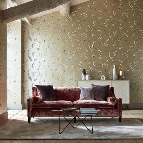 Harlequin Iyanu Linen/Blush Wallpaper 111769