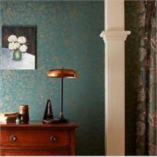 Morris & Co Middlemore Sage Grey Wallpaper 216694