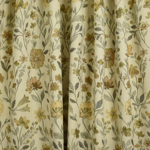 Gordon Smith Fiori Gold Curtain Fabric