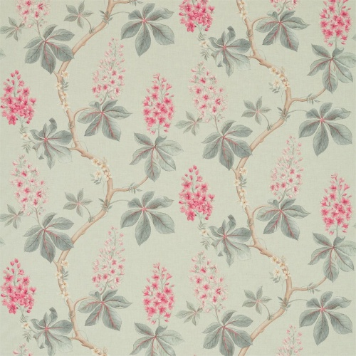 Sanderson Chestnut Tree Seaspray/Peony Fabric 225515
