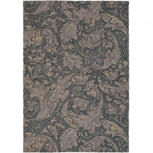 Morris & Co Bachelors Button Charcoal Rug 28205