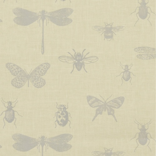 Gordon Smith Bugs Grey Curtain Fabric