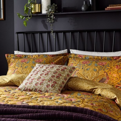 William Morris Seasons By May Double Duvet Cover Saffron