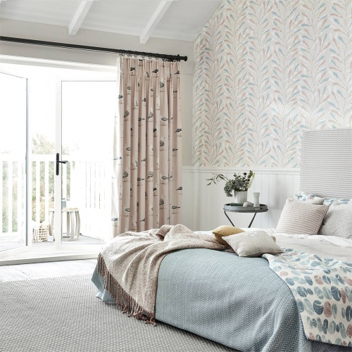 Sanderson Home Shore Birds Driftwood Fabric 226494
