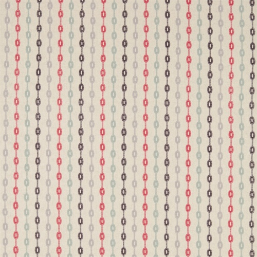 Sanderson Home Shaker Stripe Coral/Celadon Curtain Fabric 235891