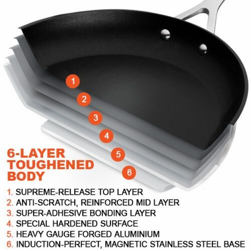 Le Creuset Toughened Non-Stick 24cm Deep Frying Pan