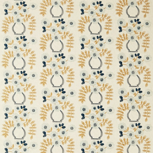 Sanderson Home Flower Pot Dijon Curtain Fabric 235875