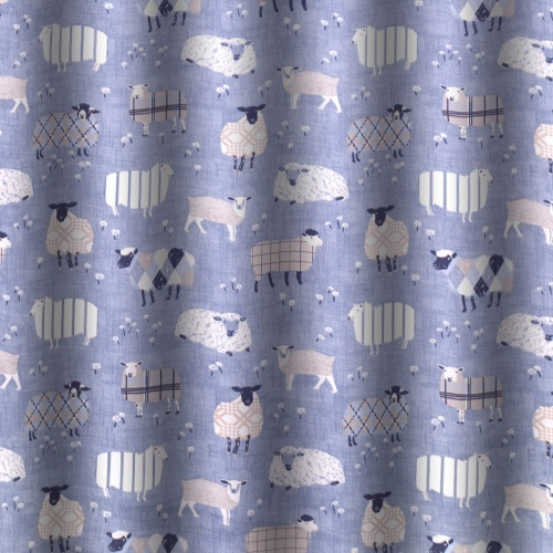 Swatch Box Baa Baa Denim Curtain Fabric
