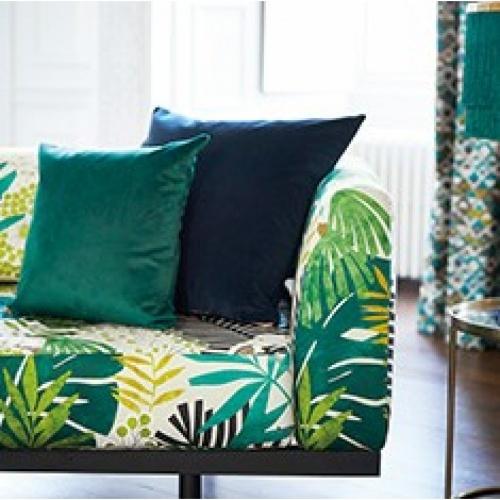 Harlequin Boka Charcoal/Marine/Zest Curtain Fabric 132956