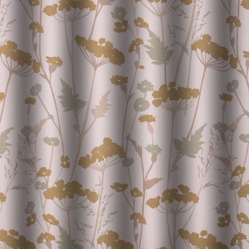 Gordon Smith Parsley Gold Curtain Fabric