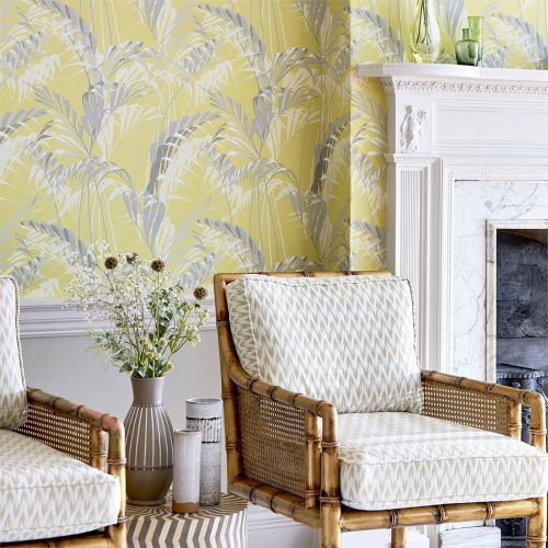 Sanderson Hutton Silver Fern Fabric 236807