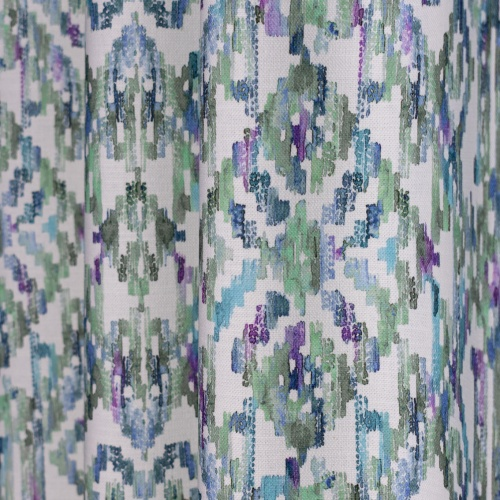 Fibre Naturelle Marrakesh Aqua Curtain Fabric MARR/02