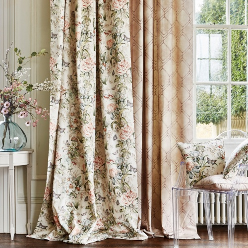 Prestigious Hot House Peach Blossom Fabric 8692/252