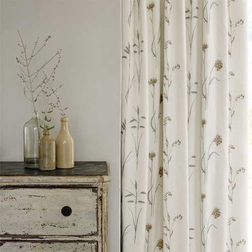Sanderson Meadow Grasses Sage/Honey Fabric 235605