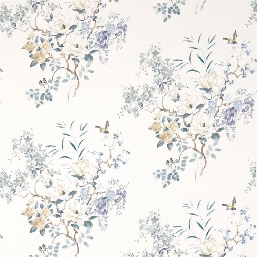 Sanderson Magnolia & Blossom Mineral/Teal Fabric 226293