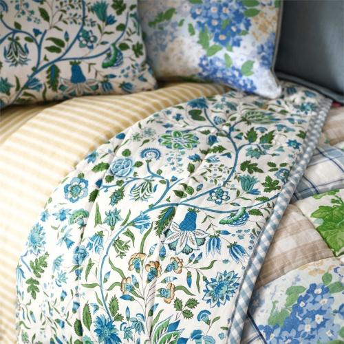 Sanderson Sita Jade/Cobalt Curtain Fabric 224314