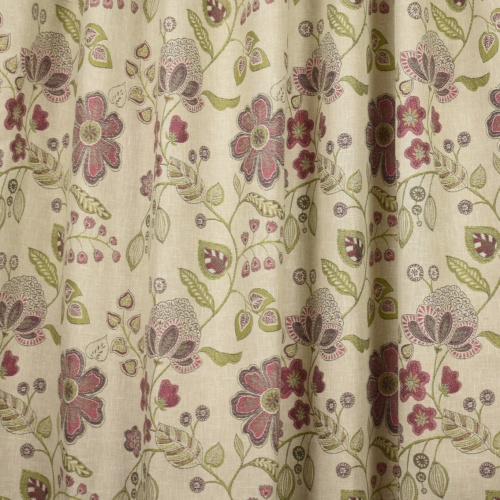 Voyage Hartwell Raspberry Curtain Fabric