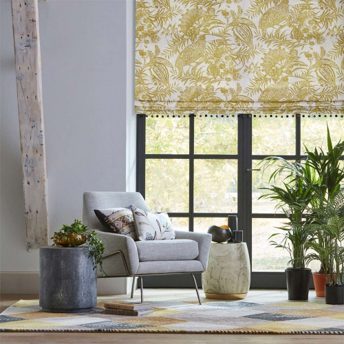 Harlequin Toco Ochre Curtain Fabric 120743