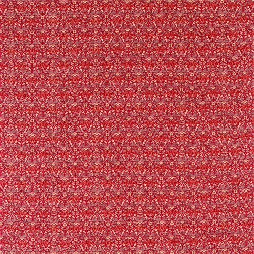 Morris & Co Eye Bright Red Fabric 226599