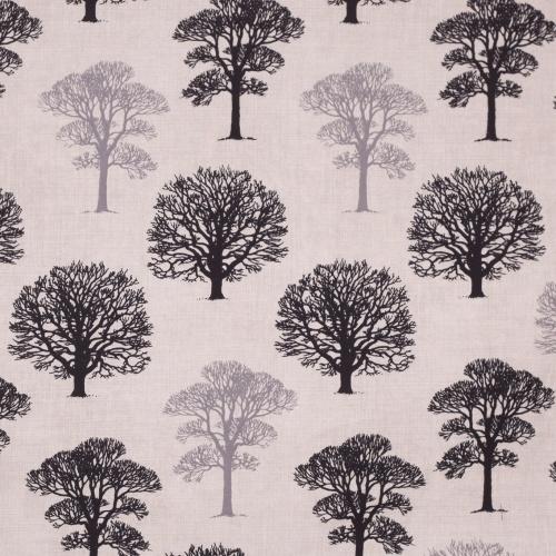 Gordon Smith Oak Black Curtain Fabric