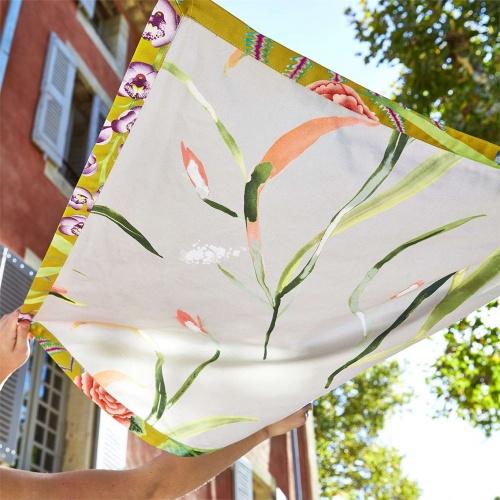 Harlequin Saona Coral/Silver Curtain Fabric 120742