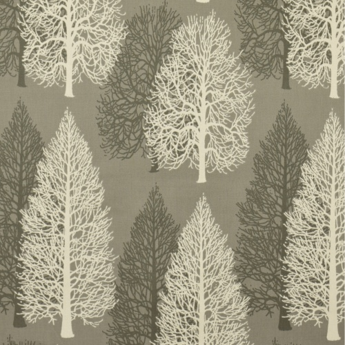 Gordon Smith Conifer Grey Curtain Fabric