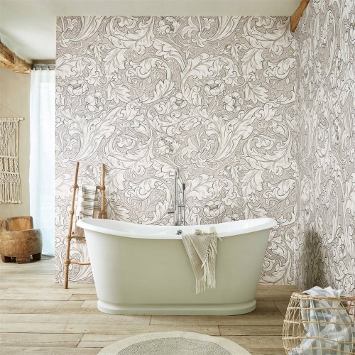 Morris & Co Pure Bachelors Button Faded Sea Pink Wallpaper 216553