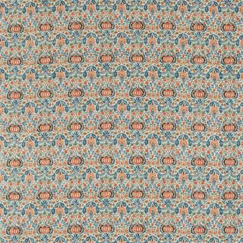 Morris & Co Little Chintz Teal/Saffron Fabric 226409