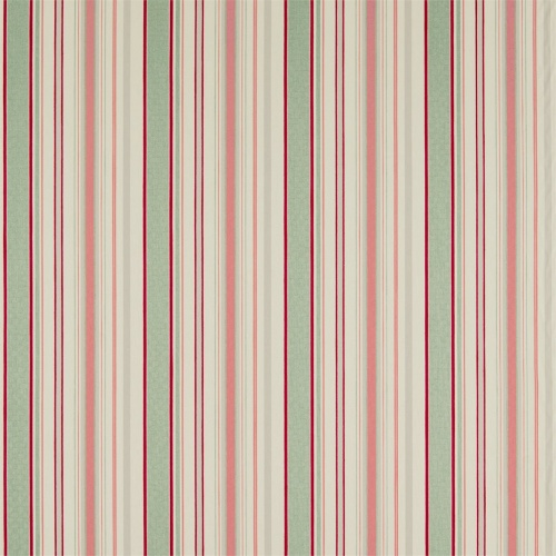 Sanderson Home Dobby Stripe Coral/Celadon Curtain Fabric 235897