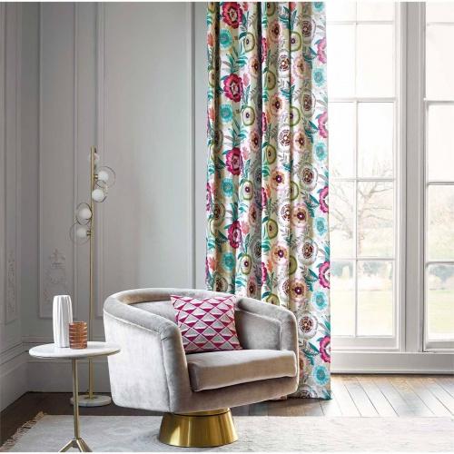 Harlequin Komovi Azalea/Fern/Lagoon Curtain Fabric 120814