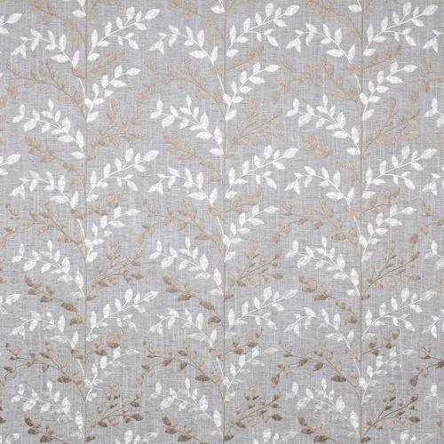 Fibre Naturelle Zoe Thunder / Pearl Curtain Fabric ZOE/03
