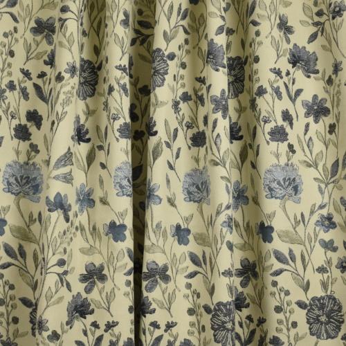 Gordon Smith Fiori Blue Curtain Fabric