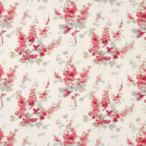 Sanderson Delphiniums Coral Fabric 226290