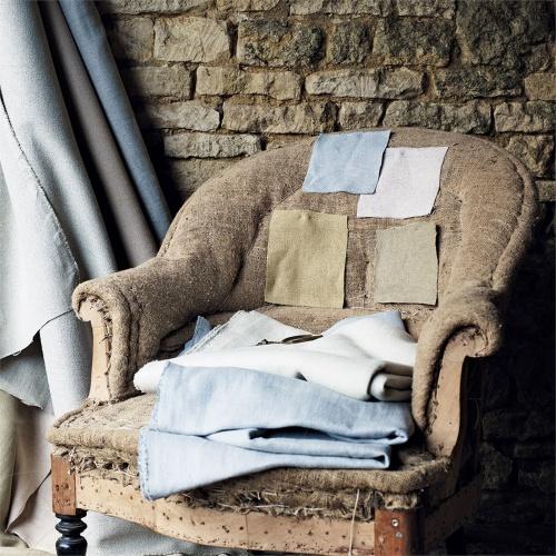 Sanderson Woodland Plain Powder Blue Fabric 235622