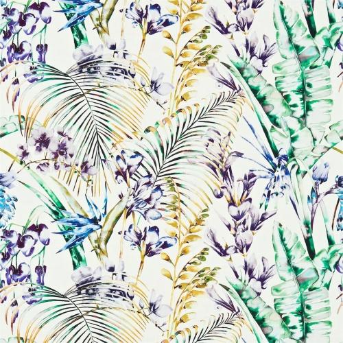 Harlequin Paradise Gooseberry/Blueberry/Zest Curtain Fabric 120353