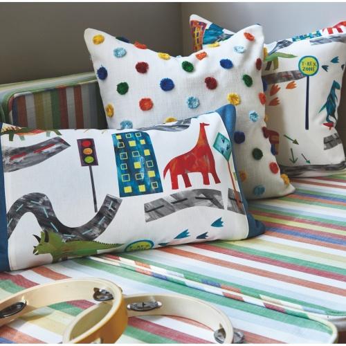 Prestigious Dino City Rainbow Fabric 8712/546