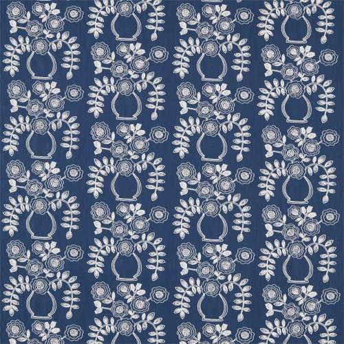 Sanderson Home Flower Pot Indigo Curtain Fabric 235881