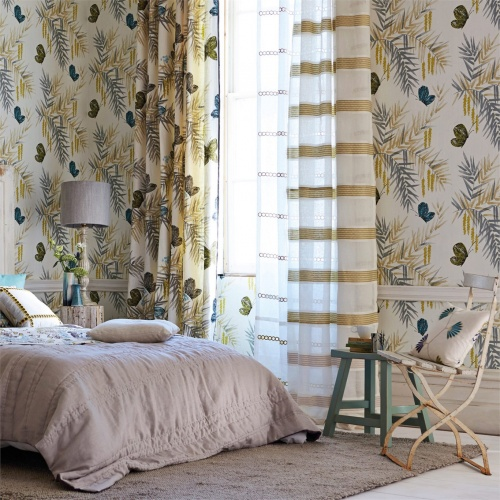 Harlequin Floret Heather/Linen Curtain Fabric 120263